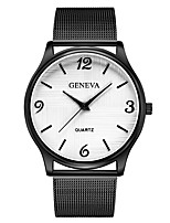 cheap -Geneva Women's Wrist Watch Quartz New Design Casual Watch Cool Alloy Band Analog Casual Fashion Black / Rose Gold - Black / White Rose Gold / White Black / Rose Gold One Year Battery Life