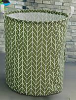cheap -Fabrics Round Geometric Pattern Home Organization, 1pc Storage Baskets