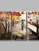 cheap -Oil Painting Hand Painted - Abstract Comtemporary Canvas