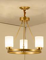 baratos -QIHengZhaoMing 3-luz Lustres Luz Ambiente 110-120V / 220-240V, Branco Quente, Lâmpada Incluída