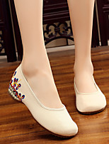 cheap -Women's Shoes Canvas Summer Comfort / Ballerina Flats Low Heel White / Black