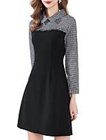 preiswerte -Damen Hemd Kleid Mini