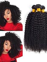Недорогие -3 Связки Перуанские волосы Кудрявый Натуральные волосы Человека ткет Волосы / Пучок волос / One Pack Solution 8-28 дюймовый Ткет человеческих волос Машинное плетение