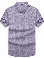 baratos -Homens Polo Geométrica Colarinho de Camisa / Manga Curta