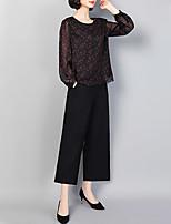 economico -Per donna Essenziale / Moda città Set - Con stampe, Fantasia floreale Pantalone