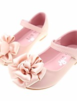 cheap -Girls' Shoes PU(Polyurethane) Spring / Fall Comfort / Flower Girl Shoes Flats for Beige / Pink