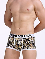 cheap -Men's Boxers Underwear / Briefs Underwear Leopard / Color Block Mid Waist