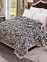 cheap -Coral fleece, Pigment Print Striped Cotton / Polyester Blankets