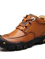 cheap -Men's Cowhide Fall & Winter Fluff Lining Boots Black / Brown