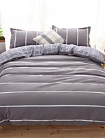 cheap -Duvet Cover Sets Geometric 100% Cotton Reactive Print 4 Piece