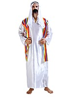 cheap -Pirates of the Caribbean Costume Men's Halloween Carnival Masquerade Festival / Holiday Halloween Costumes Outfits White Solid Colored Striped Halloween Halloween