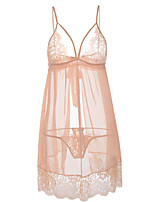 cheap -Women's Satin & Silk Nightwear - Lace / Mesh, Solid Colored