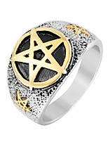 cheap -Men's Sculpture Band Ring - Stainless Steel Punk, Trendy, Hip-Hop 8 / 9 / 10 Gold For Daily / Street