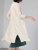 cheap -Women's Basic / Street chic Cardigan - Solid Colored, Split