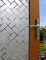 Недорогие -Оконная пленка и наклейки Украшение штейн / Современный Геометрический принт ПВХ Стикер на окна / Матовая
