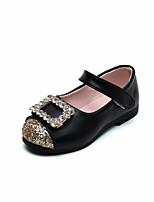 Недорогие -Девочки Обувь Искусственная кожа Весна & осень Удобная обувь / Детская праздничная обувь На плокой подошве для Золотой / Черный / Розовый
