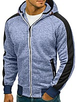 cheap -Men's Basic Hoodie / Hoodie Jacket - Solid Colored