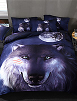 preiswerte -Bettbezug-Sets Cartoon Design Polyester / Baumwolle / Polyester Reaktivdruck 3 Stück