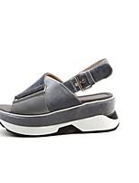 Недорогие -Жен. Обувь Трикотаж Весна Удобная обувь Обувь на каблуках Для прогулок На низком каблуке Круглый носок Черный / Светло-серый / Розовый