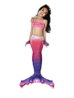 cheap -The Little Mermaid Swimwear / Bikini / Costume Girls' Halloween / Carnival Festival / Holiday Halloween Costumes Purple Mermaid Vintage