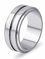 cheap -Men's Layered / Classic Band Ring - Titanium Steel Creative Stylish, Simple, Classic 7 / 8 / 9 Silver For Daily / Street