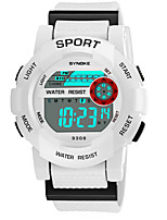 cheap -SYNOKE Men's / Women's Sport Watch / Digital Watch Calendar / date / day / Chronograph / Water Resistant / Water Proof PU Band Fashion Black / White / Pink / Noctilucent