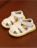 cheap -Girls' Shoes PU(Polyurethane) Spring & Summer First Walkers Sandals Magic Tape for Toddler / Infant Beige / Yellow / Pink
