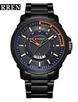 abordables -CURREN Hombre Reloj de Vestir / Reloj Pulsera Chino Calendario / Resistente al Agua / Nuevo diseño Aleación Banda Casual / Moda Plata / Acero Inoxidable
