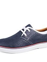 Недорогие -Муж. Комфортная обувь Наппа Leather Осень Кеды Желтый / Коричневый / Синий