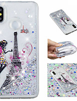 cheap -Case For Xiaomi Redmi Note 5 Pro / Mi 8 Flowing Liquid / Pattern / Glitter Shine Back Cover Eiffel Tower / Glitter Shine Soft TPU for Xiaomi Redmi Note 5 Pro / Xiaomi Redmi Note 4X / Xiaomi Redmi