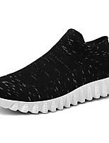 Недорогие -Муж. Трикотаж / Эластичная ткань Лето Удобная обувь Кеды Черный / Серый