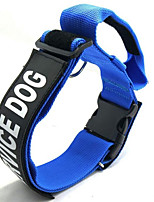 cheap -Dogs Collar Portable / Adjustable Size / Folding Quotes & Sayings Nylon Black / Red / Blue
