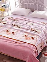 baratos -Velocino de Coral, Impressão Reactiva Geométrica Jacquard Poliéster cobertores