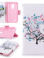 cheap -Case For LG K10 2018 Wallet / Card Holder / with Stand Full Body Cases Tree Hard PU Leather for LG K10 2018