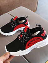 cheap -Girls' Shoes Knit / PU(Polyurethane) Spring & Summer Comfort Athletic Shoes Walking Shoes for Teenager White / Red / Blue