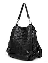 Недорогие -Жен. Мешки PU рюкзак Молнии Черный