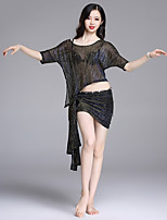 cheap -Belly Dance Outfits Women's Performance Spandex Ruching Short Sleeve Dropped Skirts / Top / Shorts