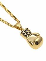 preiswerte -Herrn Kubanischer Link Anhängerketten / Ketten - Rostfrei Boxhandschuhe Europäisch, Modisch, Hip-Hop Gold, Silber 60 cm Modische Halsketten 1pc Für Geschenk, Strasse
