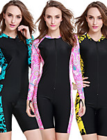 cheap -SBART Women's Dive Skin Suit Quick Dry, Wearable, Breathable Nylon Long Sleeve Swimwear Beach Wear Diving / Watersports / High Elasticity