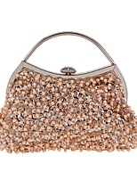 cheap -Women's Bags Polyester / Alloy Evening Bag Beading / Sequin Champagne / White / Gray