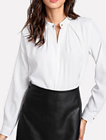cheap -Women's Basic Shirt - Solid Colored