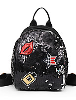 cheap -Women's Bags PU(Polyurethane) Backpack Sequin Red / Blushing Pink / Purple