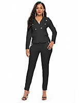 cheap -Women's Basic Suits-Solid Colored,Beaded
