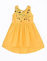 cheap -Kids Girls' Solid Colored / Floral Sleeveless Dress