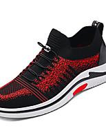 cheap -Men's PU(Polyurethane) / Elastic Fabric Summer Comfort Sneakers Black / Black / Red