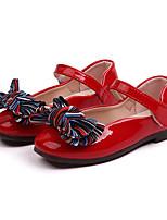 Недорогие -Девочки Обувь Полиуретан Весна лето Удобная обувь / Детская праздничная обувь На плокой подошве Для прогулок Бант для Для подростков Черный / Красный / Розовый