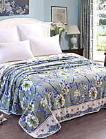 cheap -Coral fleece / Super Soft, Reactive Print Geometric / Flower Cotton / Polyester Blankets