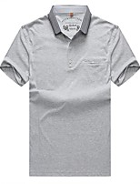 cheap -Men's Sports Plus Size Cotton Polo - Solid Colored Shirt Collar / Short Sleeve