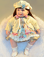 cheap -FeelWind Reborn Doll Baby Girl 22 inch lifelike, Artificial Implantation Blue Eyes, High-Temperature Resistant Fibre Wigs Kid's Girls' Gift