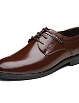 Недорогие -Муж. Официальная обувь Полиуретан Осень Формальная обувь Туфли на шнуровке Черный / Коричневый